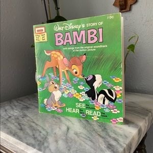 Disney Bambi Book See Hear Read Vintage 🤓